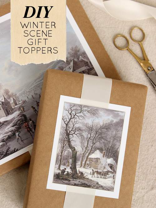 DIY Winter Scene Painting Gift Toppers 3
