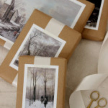 DIY Project: Winter Scene Painting Gift Toppers