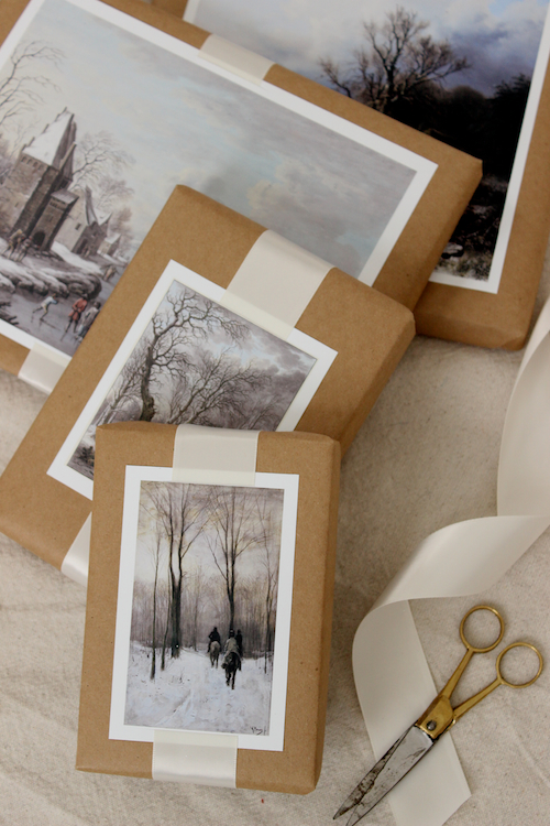 DIY Winter Scene Painting Gift Toppers 4