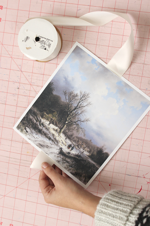 DIY Winter Scene Painting Gift Toppers - Step 4