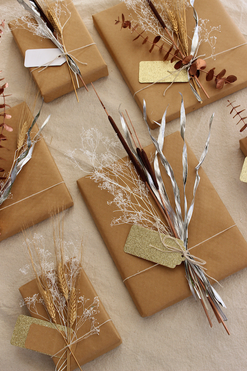 Diy Project Mixed Metal Natural Gift Toppers Design Sponge