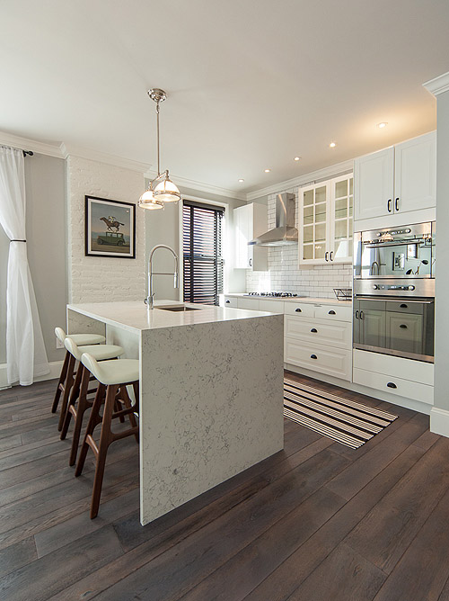 kitchen design queens before amp after a townhouse kitchen gets a chic 393
