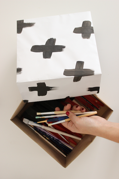 Painted Origami Storage Boxes a
