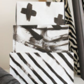 DIY Project: Abstract Art Storage Boxes