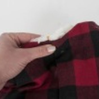 DIY Project: Sherpa Lined Plaid Cowl