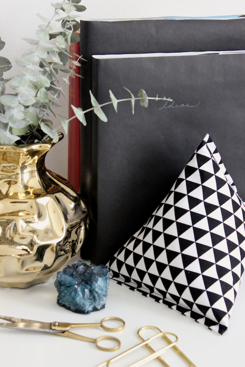 Fabric Pyramid Bookends - 1