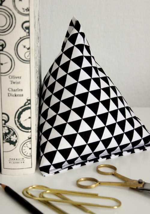 Fabric Pyramid Bookends - 2