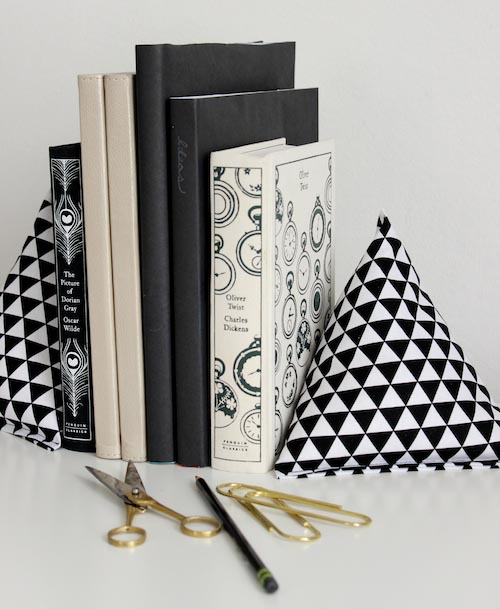 Fabric Pyramid Bookends - 3