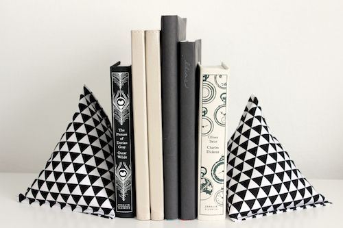 Fabric Pyramid Bookends - 4