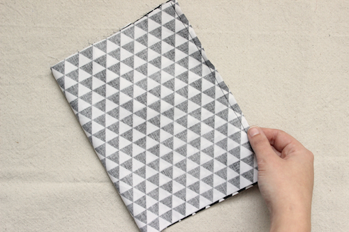 Fabric Pyramid Bookends - Step 1