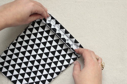 Fabric Pyramid Bookends - Step 3a