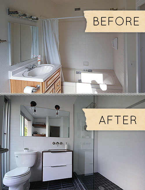Before & After: A Humdrum Bathroom Gets A Modern Makeover – Design on mcdonalds bathroom renovations, bathroom shower renovations, hgtv bathroom renovations, diy bathroom renovations, ikea toilets, small space bathroom renovations, sears bathroom renovations, ikea painting, ikea countertops, contemporary bathroom renovations, lowes bathroom renovations, ikea sinks, modern bathroom renovations, ikea kitchens, master bathroom renovations, white bathroom renovations,