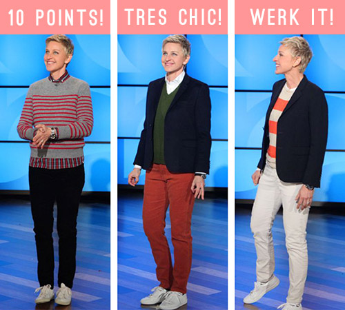 Above Some Of Ellen S Various Styles Worn On The Show Via Style Pinterest Board