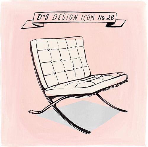 Design Icon: Barcelona Chair. By Maxwell Tielman.  Designsponge_vanderrohebarcelonachair_libbyvanderploeg. Design: Barcelona  Chair