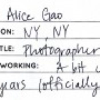 A Day In The Life of Alice Gao