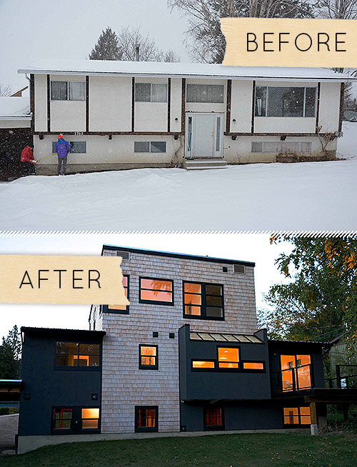 Before amp After A Plain Jane House Gets Mind Blowing