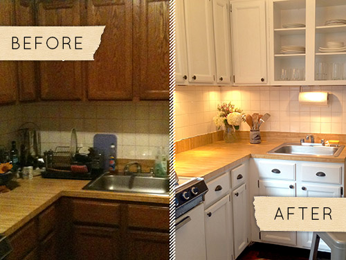 Before After A Drab Kitchen Gets One Day Makeover DesignSponge