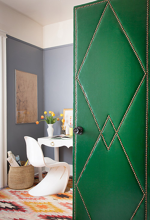 Design*Sponge | DIY Project: Upholstered Door