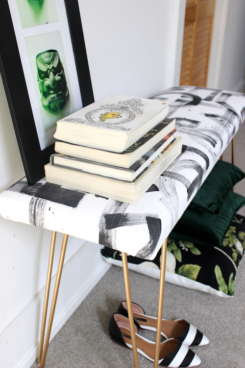 DIY Brushstroke Bench 2