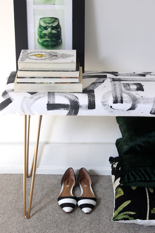 DIY Brushstroke Bench 4