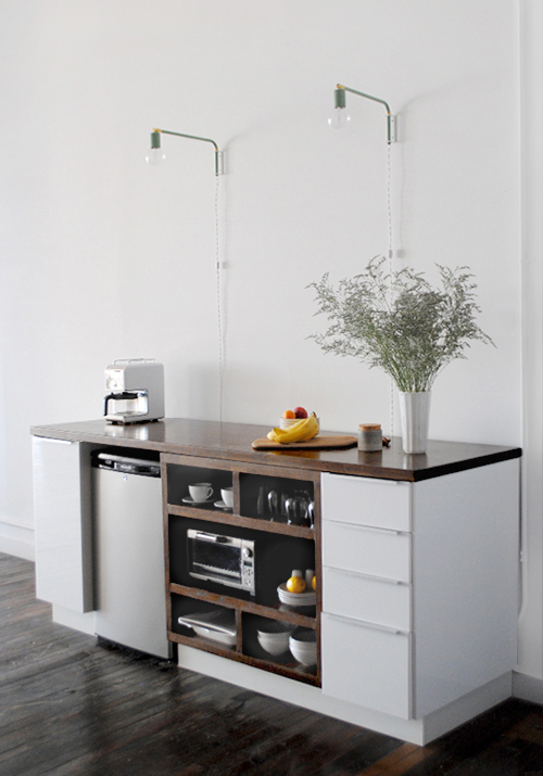 Ikea Kitchen With Pipes Up Wall