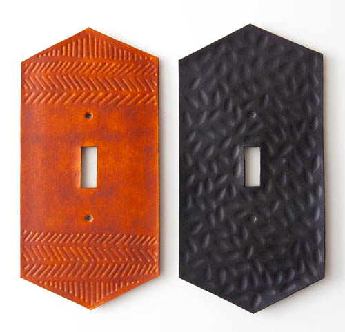 Toggle Switch Cover >> ICFF 2014: Leather Switch Plates from Canoe – Design*Sponge