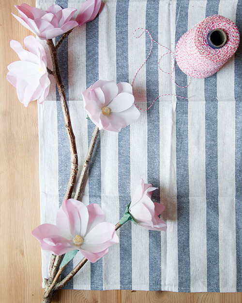 Diy Project Waxed Paper Magnolia Branch Designsponge