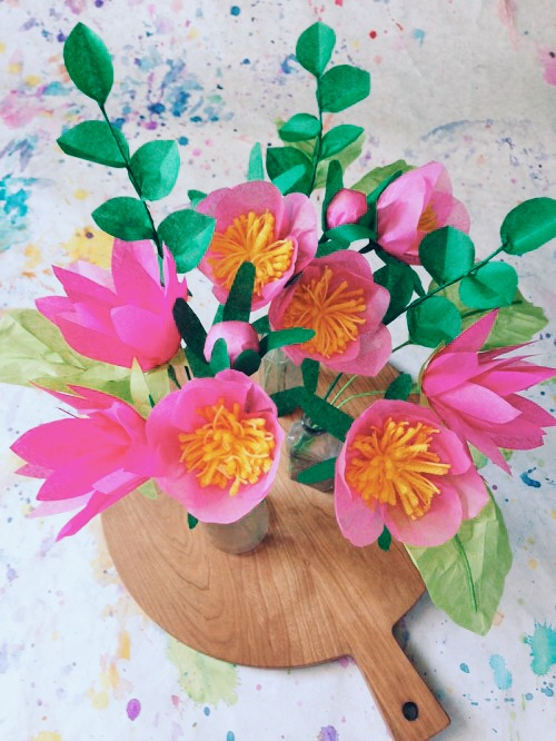 Diy Project Paper Flower Bouquet Design Sponge