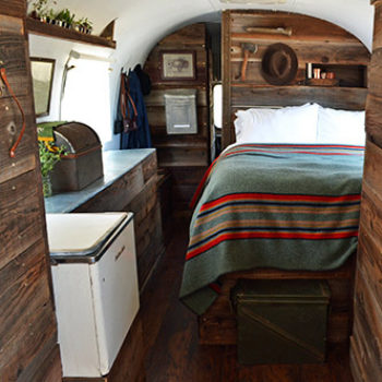 An Airstream Trailer Gets A Rustic Overhaul