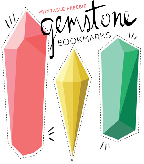 graphic about Bookmarks Printable titled Printable Freebie: Gemstone Bookmarks Structure*Sponge