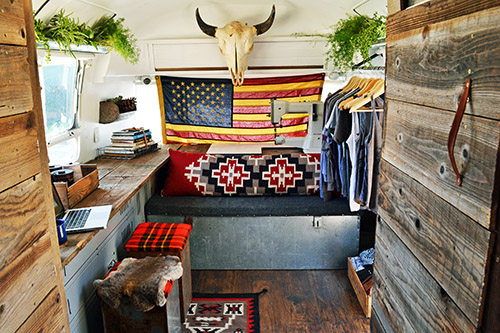 An Airstream Trailer Gets A Rustic Overhaul Design Sponge