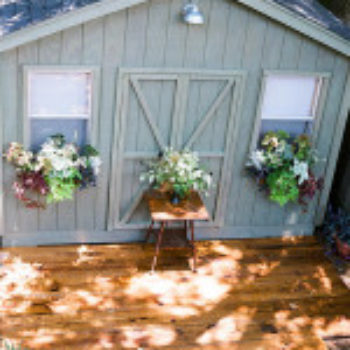 Before & After: A Basic Garden Shed Gets Spruced Up
