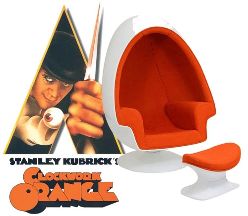... Orange: One Of My Favorite Films Is Also One Of The Most Disturbing,  But The Imagery (design Wise) Is Hard To Forget. Anything 70s Era And Egg Shaped  ...