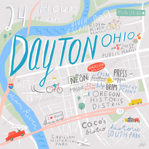 Dayton Oregon Map 24 Hours in Dayton, OH with Bethany and Jana – Design*Sponge