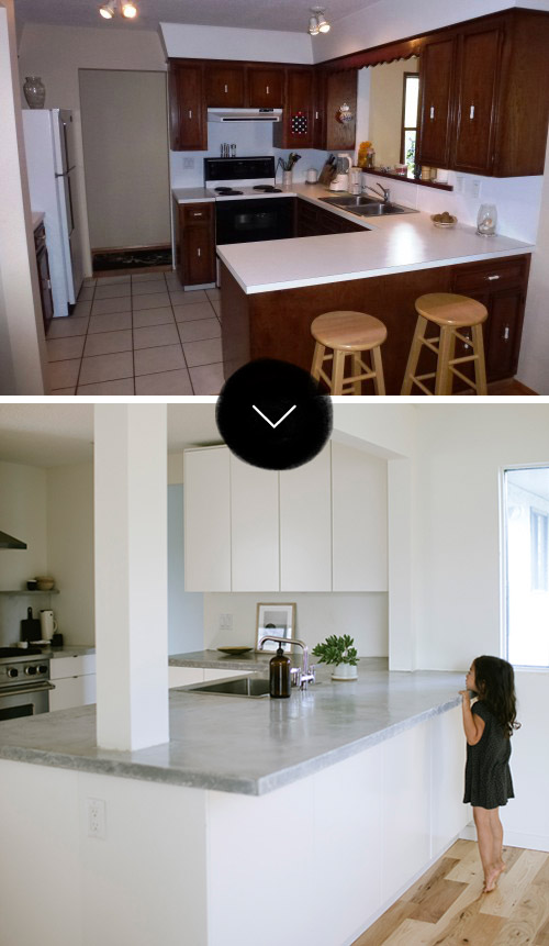 Before After A Calgary Kitchen Gets The Minimalist Treatment