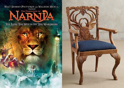 The Chronicles Of Narnia: Though I Prefer The Book Version Of This Classic  Story, This Chair With Its Woodland Inspired Carving Reminds Me Of The  Magical ...