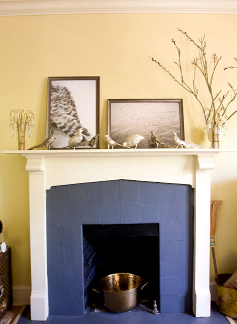 Lucy Allen Gillis has always had one of my favorite home tours and her two-tone painted fireplace is a simple but great idea for anyone who wants to give ... & 15 Beautiful DIY Ideas for Your Fireplace \u2013 Design*Sponge