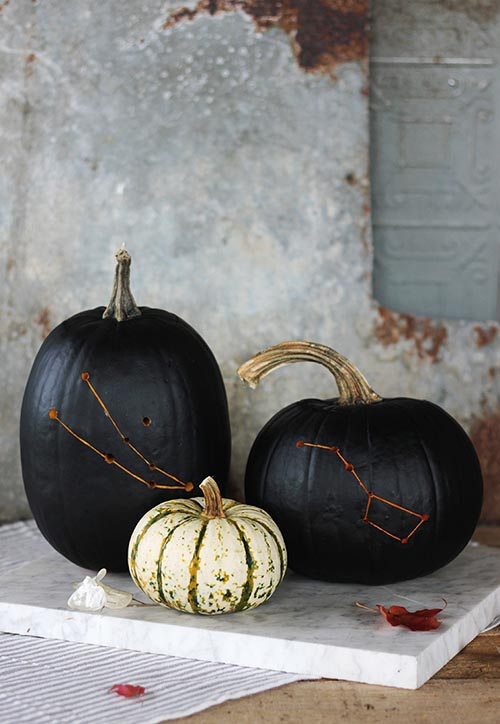 DIY Constellation Halloween Pumpkin by The Merrythought for Design*Sponge
