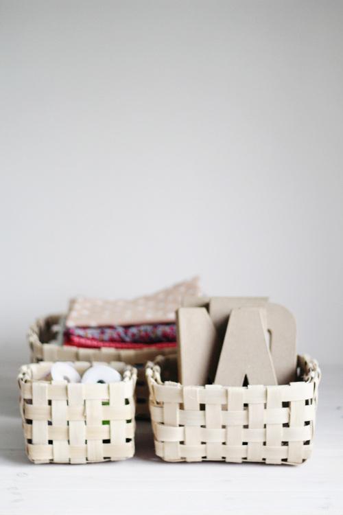DIY Woven Baskets styled