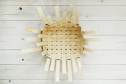 DIY Woven Baskets with four sides