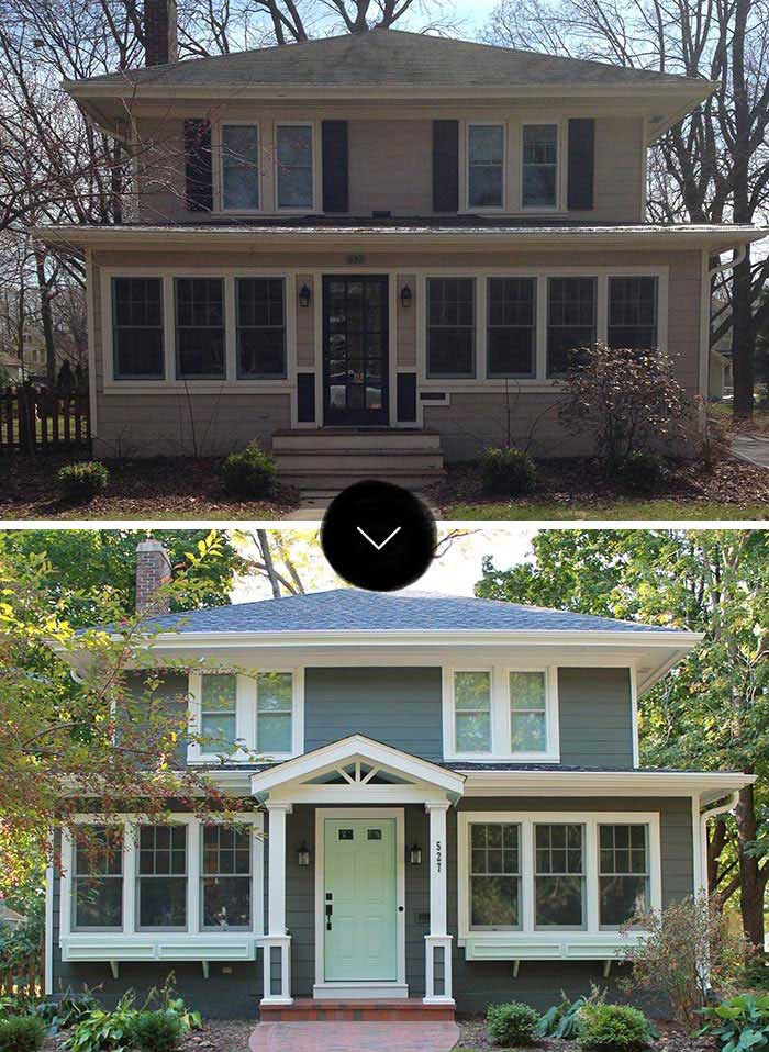 before after brienna s curb appeal makeover design sponge