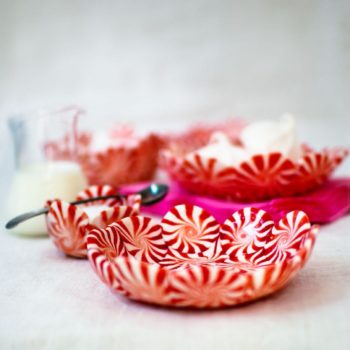 DIY Peppermint Candy Bowls from <em>Candy Aisle Crafts</em>