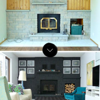 A Bold, Black Fireplace Makeover