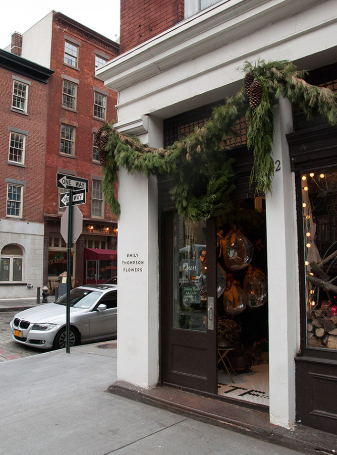 Emily Thompson Flowers, located at 142 Beekman Street in lower Manhattan.