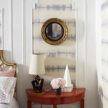 DIY Removable Fabric Wall Treatment