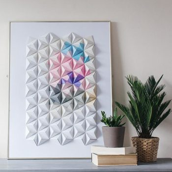 DIY Origami Wall Display