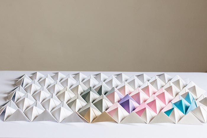 Diy Origami Wall Display Design Sponge