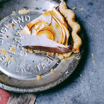 In the Kitchen With: Edd Kimber's Chocolate and Amaretto Pudding Pie