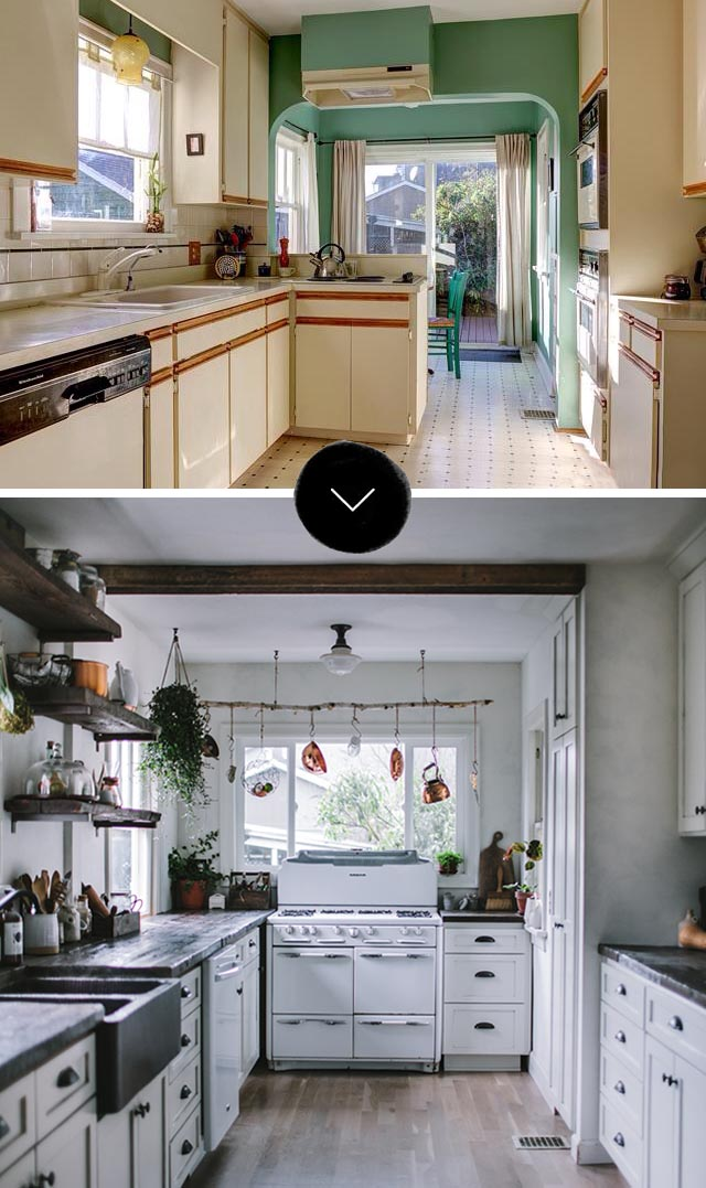 Before & After Kitchen on Design*Sponge