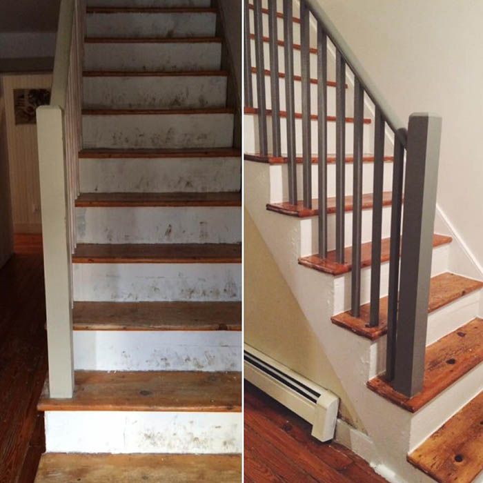 Our DIY Stair Makeover: Paint + Runner
